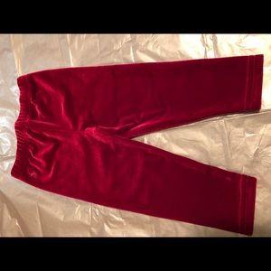 Velvet look leggings for baby girl